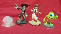 4 DISNEY INFINITY Aladdin Monsters Inc Barbo 1.0 2.0 3.0 Figure Lot Wii PS3 360