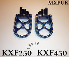 KXF450 2012 FOOTPEGS MXPUK BLUE EXTRA WIDE FACTORY FOOT PEGS 2011 KXF450 (561)