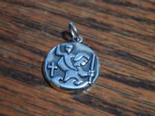 Sterling Silver James Avery St Christopher Charm Pendant