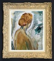 RAYA SAFIR (1909-2004) PEINTURE FAUVISTE FEMME NUE DE DOS 1950 (175)