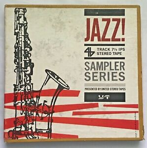 7-1/2ips JAZZ! Sampler Dizzy Gillespie Oscar Peterson Basie more  Reel Tape GTD