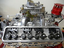 ALUMINIUM CYLINDER HEADS S/B CHEV COMPLETE WITH STUDS & GUIDE PLATES 180 RUNNERS
