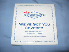 New listing Nib Dow Styrofoam Coaster Trivet Tile in gift box-Dow Chemical collectible