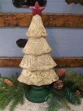 "Nib large 15"" Antique Script Newsprint Christmas Tree Star Decoration Prop"