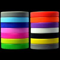 6 Colors Unisex Sport Silicone Rubber Bracelet Rubber Wristband Men Women