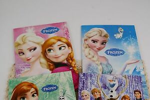 A set of 4 Disney Frozen Anna Elsa Notebooks Notepads Gift Prize for Kids