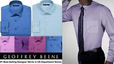 Mens Shirt Geoffrey Beene Tailored Fitted Cotton Rich Easycare Long Sleeve