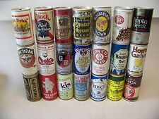 Lot 21 Vintage Steel Beer Can's Mostly steel some aluminium