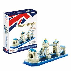 CubicFun 3D Puzzle TOWER BRIDGE C238H 52 Pieces 48 x 14.5 x 17.5cm MELBOURNE