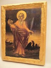 Saint John The Evangelist Orthodox Ecclesiastical Icon on Poplar Wood