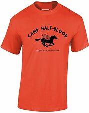 Camp half-Blood T-Shirt orange Pegasus Percy Jackson Greek gods tshirt Mens Kid