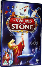 Sword In The Stone Classic Walt Disney Film Kids Childrens Movie DVD New Sealed