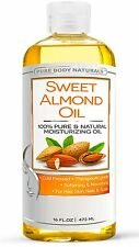 Pure Body Naturals Sweet Almond Oil 16 oz