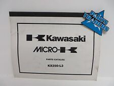 NOS Kawasaki Micro-K Parts Catalog KX250 KX 250 2001 01 99960-0103-01