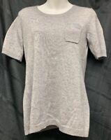Banana Republic Gray Short Sleeve Sweater with Pocket size M