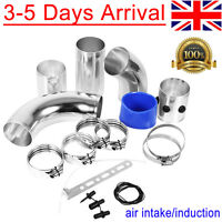 Universal 76MM Turbo Car Cold Air Intake System Filter Tube Kit Inlet Induction