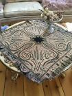 Lovely Antique Paisley Table Shawl 1900-1940 Tablecloth Fringe Trim #1B