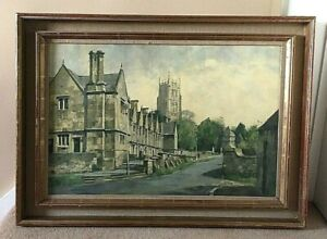 Stanley Orchart Oil Painting - Jacobean Almshouses - Chipping Campden, Cotswolds