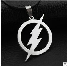 NEW 1PCS lightning Men's Silver 316L Stainless Steel Titanium Pendant Necklace