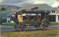 Yellowstone National Park, WYOMING - Old Stagecoach - Mammoth Hotel
