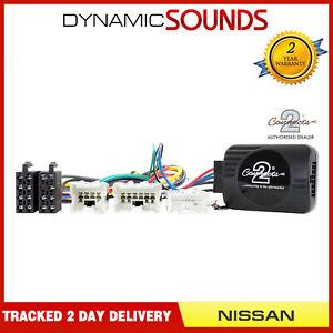 Car Steering Wheel Stalk Adaptor + ALPINE PATCH for Nissan 350z Navara X-Trail