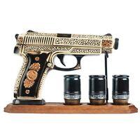 DECANTER for whiskey alcohol Bottle GUN PISTOL Military gift_Warrior's Decanters