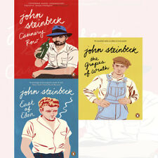 Penguin Modern Classics John Steinbeck Collection 3 Books Set Cannery Row PACK