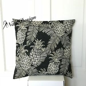 """NEW Tommy Bahama Indoor/Outdoor Tropical Palm Pineapple Cushion Covers 18"""""""