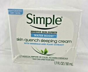 Simple Skin Quench Sleeping Cream 3 Pk. Water Boost Dehydrated Dry Skin New
