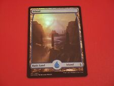 MTG MAGIC AMONKHET FULL ART ISLAND (ENGLISH ILE) NM FOIL