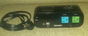 SHARP Digital Alarm Clock 2 Power Outlets & Rapid Charge 2A USB SHARP SPC1370