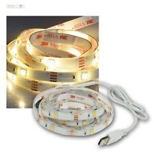 (4,85€/m) LED Stripe 2m warmweiß mit USB für PC & TV Lichtleiste Streifen Band