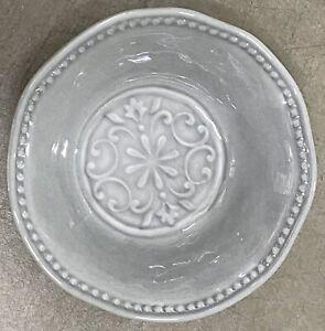 Boho Living Grey Medallion MELAMINE Cereal Bowls Set Of 4