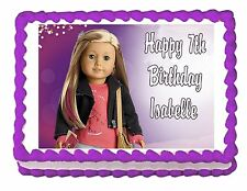 American Girl Isabelle 2014 edible party cake topper decoration frosting sheet