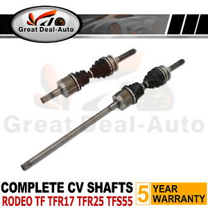 Fit Holden Rodeo TF TFS55 2.8L Turbo Diesel 4WD CV Joint Drive Shaft LEFT+ RIGHT