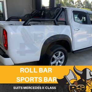 PS4X4 Mercedes X-Class Roll Bar Sports Bar Steel Black 4x4