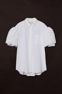 MEDIUM - Simone Rocha x H&M - Oversized Shirt - White/Pearl