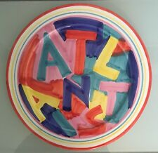 Hand Painted Platter Signed Richard Giglio Artist Italy Atlantis Paradise Island