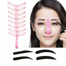 8Pack New Pro Eyebrow Template Stencil Shaping DIY Makeup Tool Women Beauty Set