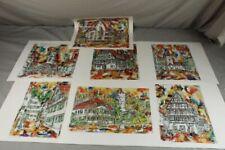 7 Hochglanz Kunstdrucke H.P. Rabatscher div. Biberach Ansichten - je 39x35 /S223