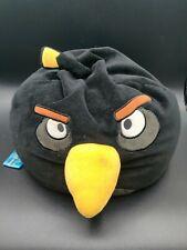 "Angry Birds Black Bean Bag Stuffed Animal Pillow 12"""