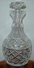 "WATERFORD CRYSTAL GLANDORE DECANTER WITH STOPPER ~ 9 1/2"" TALL ~ SCRIPT LOGO"