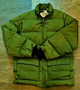 Vtg Walls Blizzard Pruf Down Puffer Jacket Army Green Made in USA Men M?