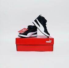 Puma Kids Shoes Kinder Fit Black White Size 8C UK 7 BNWT 363915 05 FCNMZ