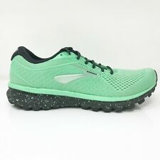 Brooks Womens Ghost 12 1203051B394 Green Black Running Shoes Lace Up Size 9 B