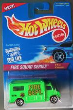 Hot Wheels 1:64 Scale 1995 Fire Squad Series AMBULANCE (GREEN 7-SPOKES)