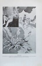 Hasenjagd Albumblatt Sammlung Geruchsfetischisten - alter Druck aus 1929  Repro