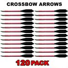 120 ALUMINUM METAL BOLTS ARROWS FOR 50 & 80 LB CROSSBOW ARCHERY XBOX - RED