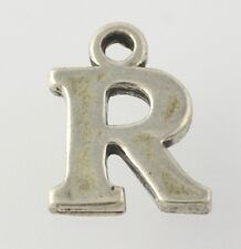 Letter R Charm - Sterling Silver 925 Alphabet Initial Pendant