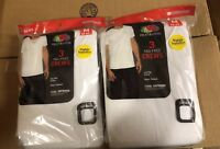 Fruit Of The Loom 6 Pack Crew Neck White T-Shirt Dual Defense S-3XL 100% Cotton!